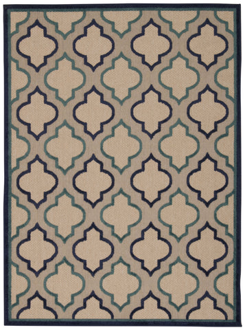 Nourison Aloha ALH06 Navy Machine Woven Area Rug
