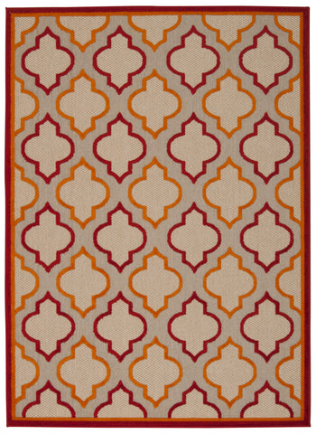 Nourison Aloha ALH06 Red Machine Woven Area Rug