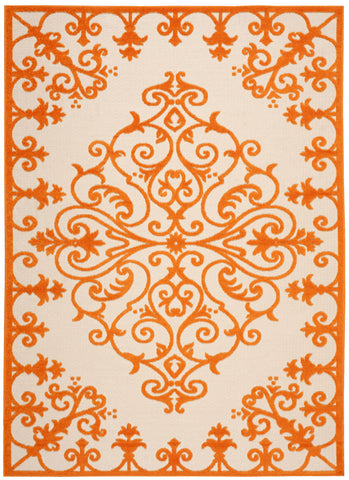 Nourison Aloha ALH12 Orange Machine Woven Area Rug
