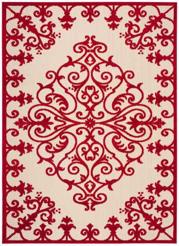 Nourison Aloha ALH12 Red Machine Woven Area Rug