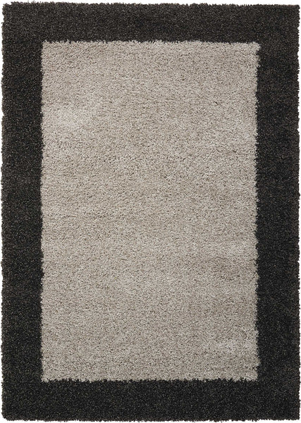 fb01453e9537f2 Nourison Amore AMOR5 Silver Charcoal Area Rug – Incredible Rugs and ...