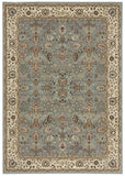 Nourison Antiquities ANT04 Royal Countryside Slate Blue Machine Woven Area Rug by Kathy Ireland