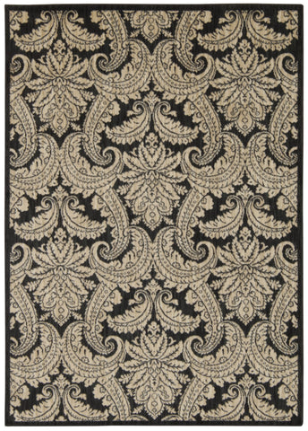 Nourison Aristo ARS05 Black Beige Machine Woven Area Rug