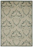 Nourison Aristo ARS05 Blue Ivory Machine Woven Area Rug
