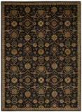 Nourison Ancient Times BAB01 Persian Treasure Black Machine Woven Area Rug by Kathy Ireland