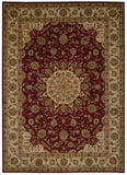 Nourison Ancient Times BAB02 Palace Red Machine Woven Area Rug by Kathy Ireland