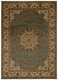 Nourison Ancient Times BAB02 Palace Teal Machine Woven Area Rug by Kathy Ireland