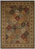 Nourison Ancient Times BAB03 Empress Garden Multicolor Machine Woven Area Rug by Kathy Ireland