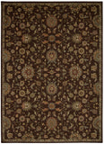 Nourison Ancient Times BAB05 Treasures Brown Machine Woven Area Rug by Kathy Ireland