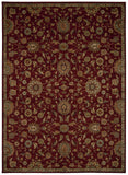 Nourison Ancient Times BAB05 Treasures Red Machine Woven Area Rug by Kathy Ireland