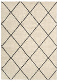 Nourison Brisbane BRI03 Ivory Charcoal Machine Tufted Area Rug