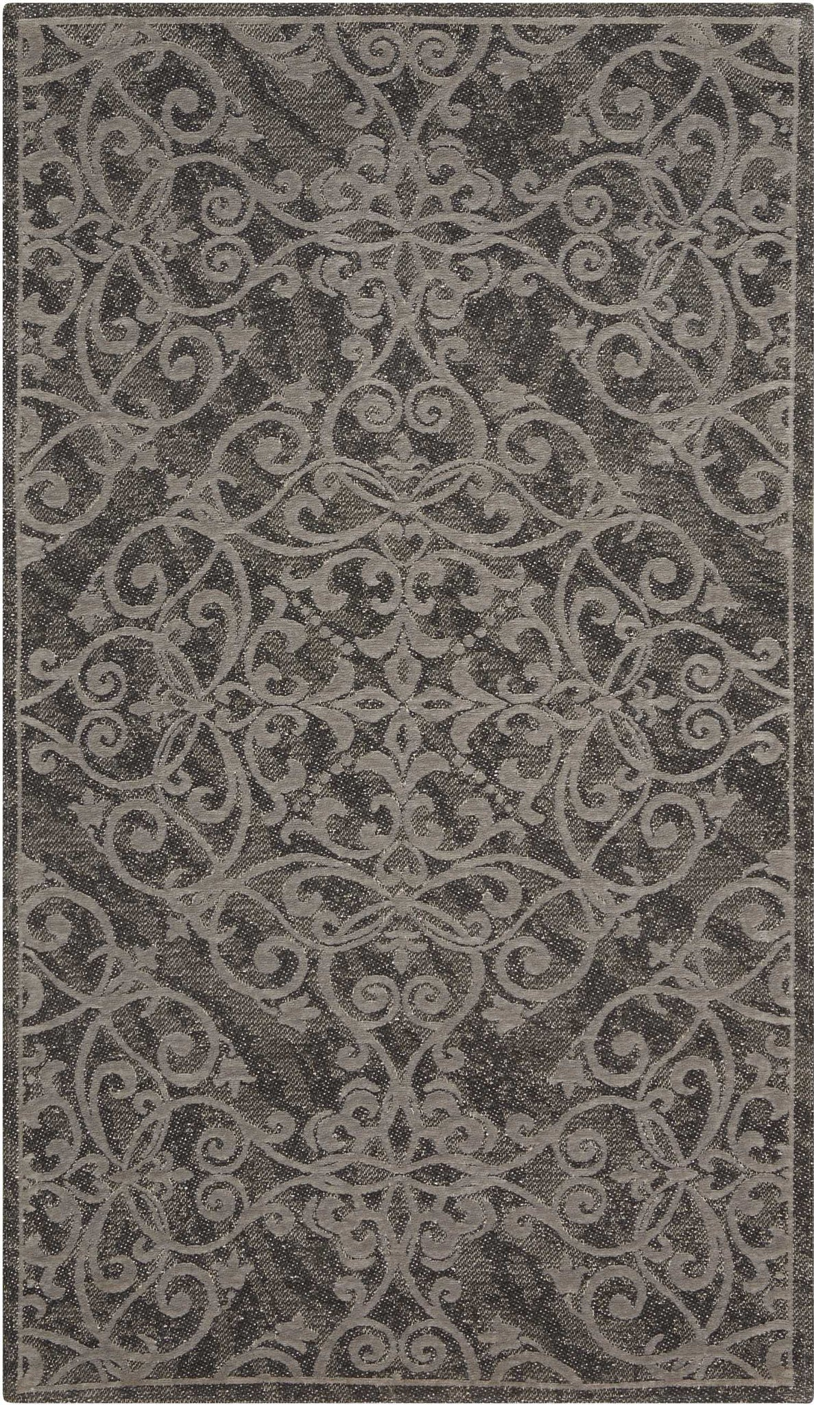 Nourison Damask DAS01 Grey Area Rug main image