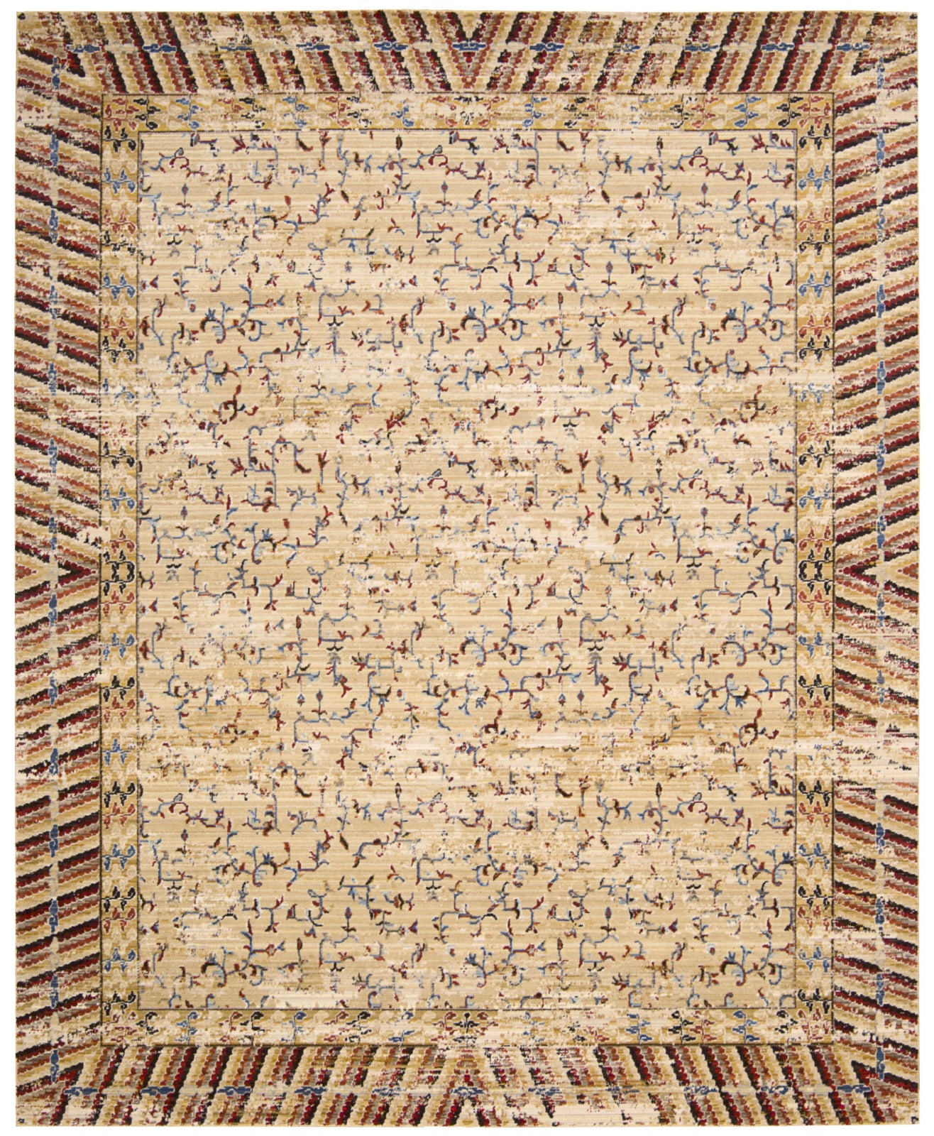 Nourison Dynasty DYN01 Lotus Ochre Area Rug by Barclay Butera main image