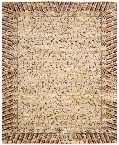 Nourison Dynasty DYN01 Lotus Ochre Machine Woven Area Rug by Barclay Butera