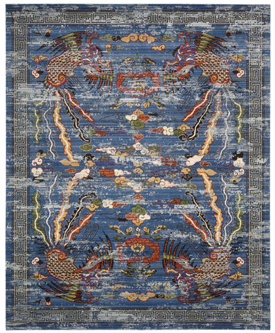 Nourison Dynasty DYN03 Imperial Midnight Area Rug by Barclay Butera main image