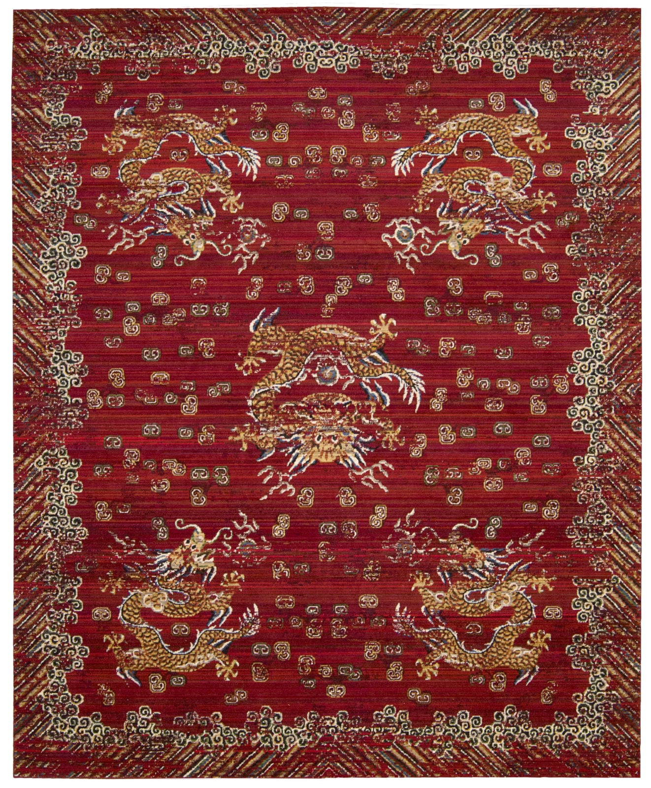 Nourison Dynasty DYN04 Emperor Oxblood Area Rug by Barclay Butera main image