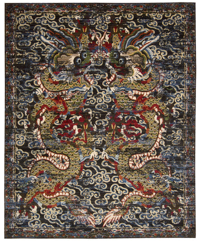 Nourison Dynasty DYN05 Empress Midnight Area Rug by Barclay Butera main image