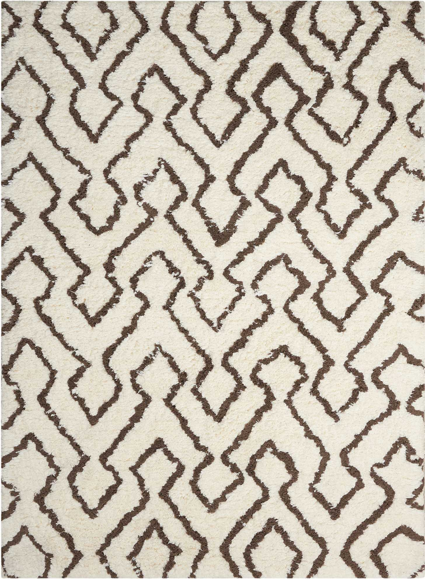 Nourison Galway GLW03 Ivory/Chocolate Area Rug main image