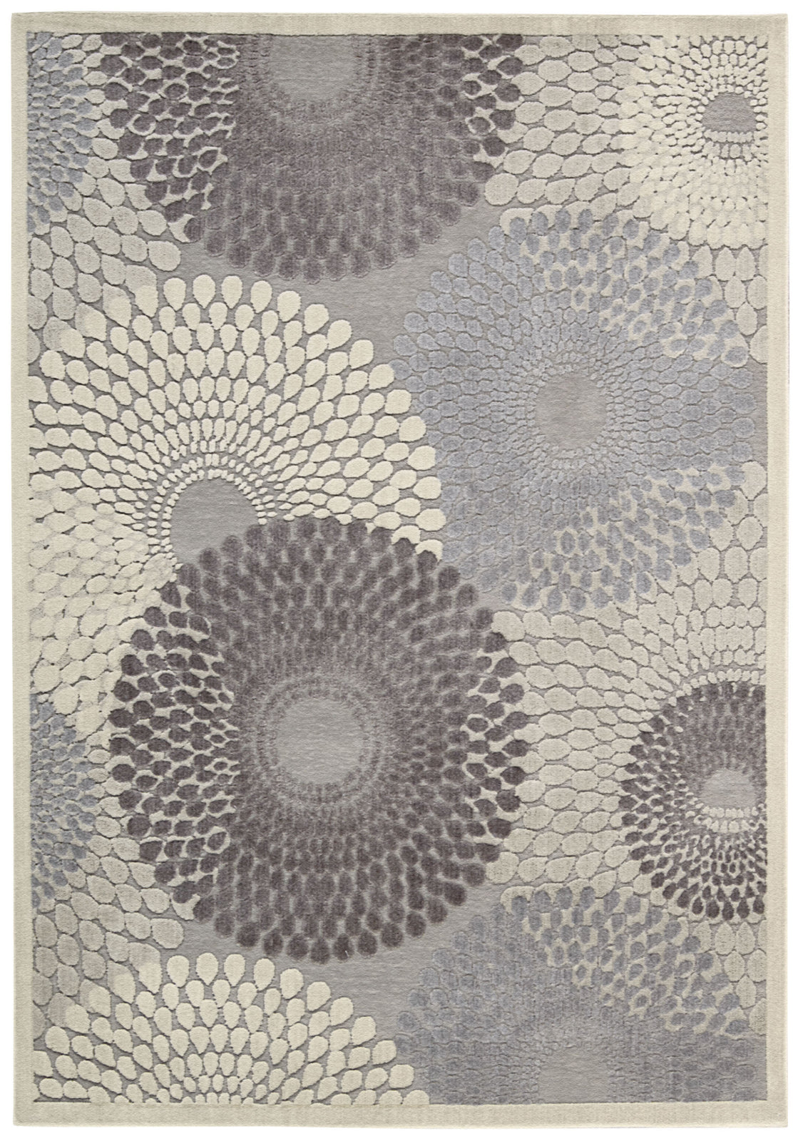 Nourison Graphic Illusions GIL04 Grey Area Rug main image