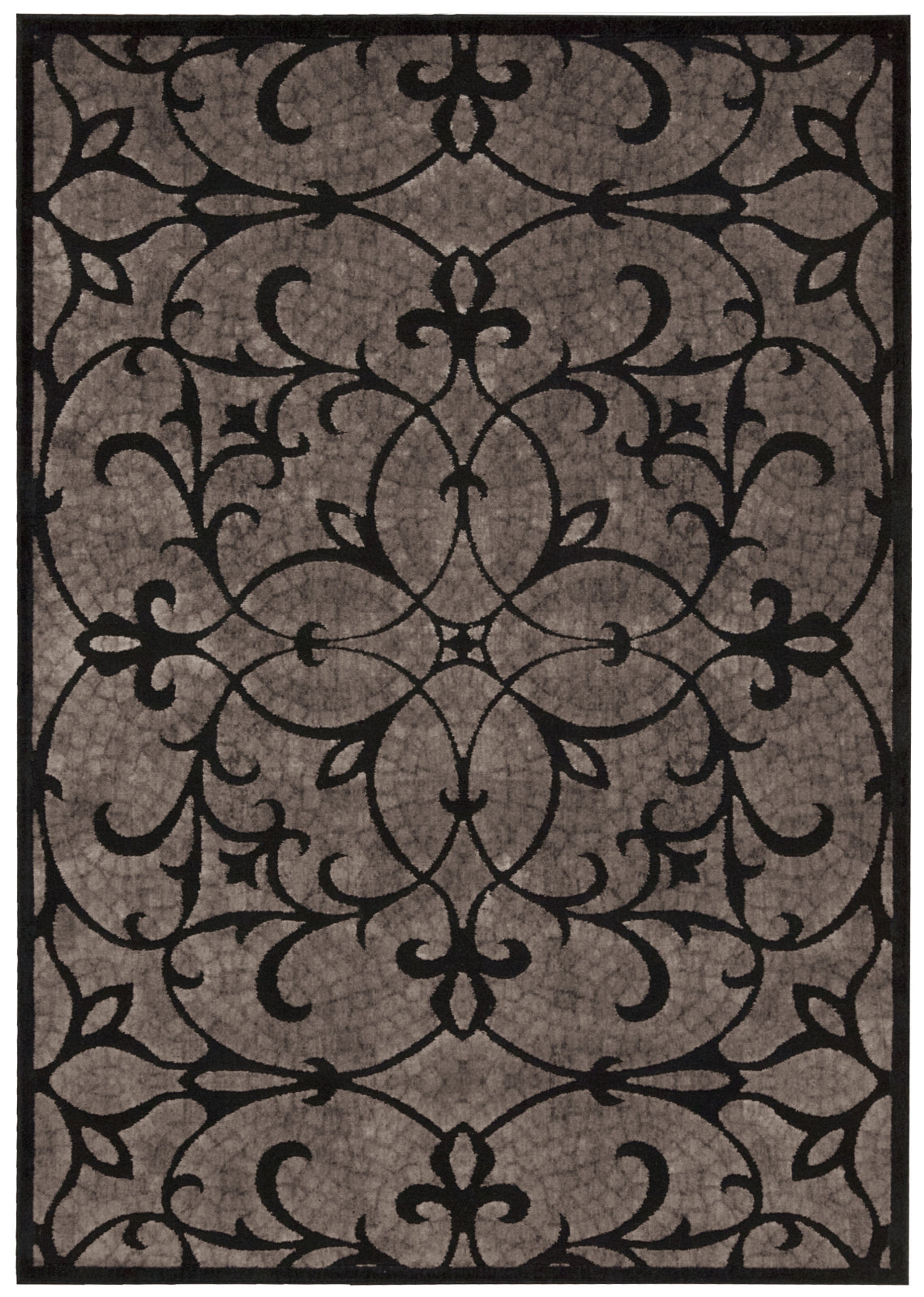 Nourison Graphic Illusions GIL05 Black Area Rug main image