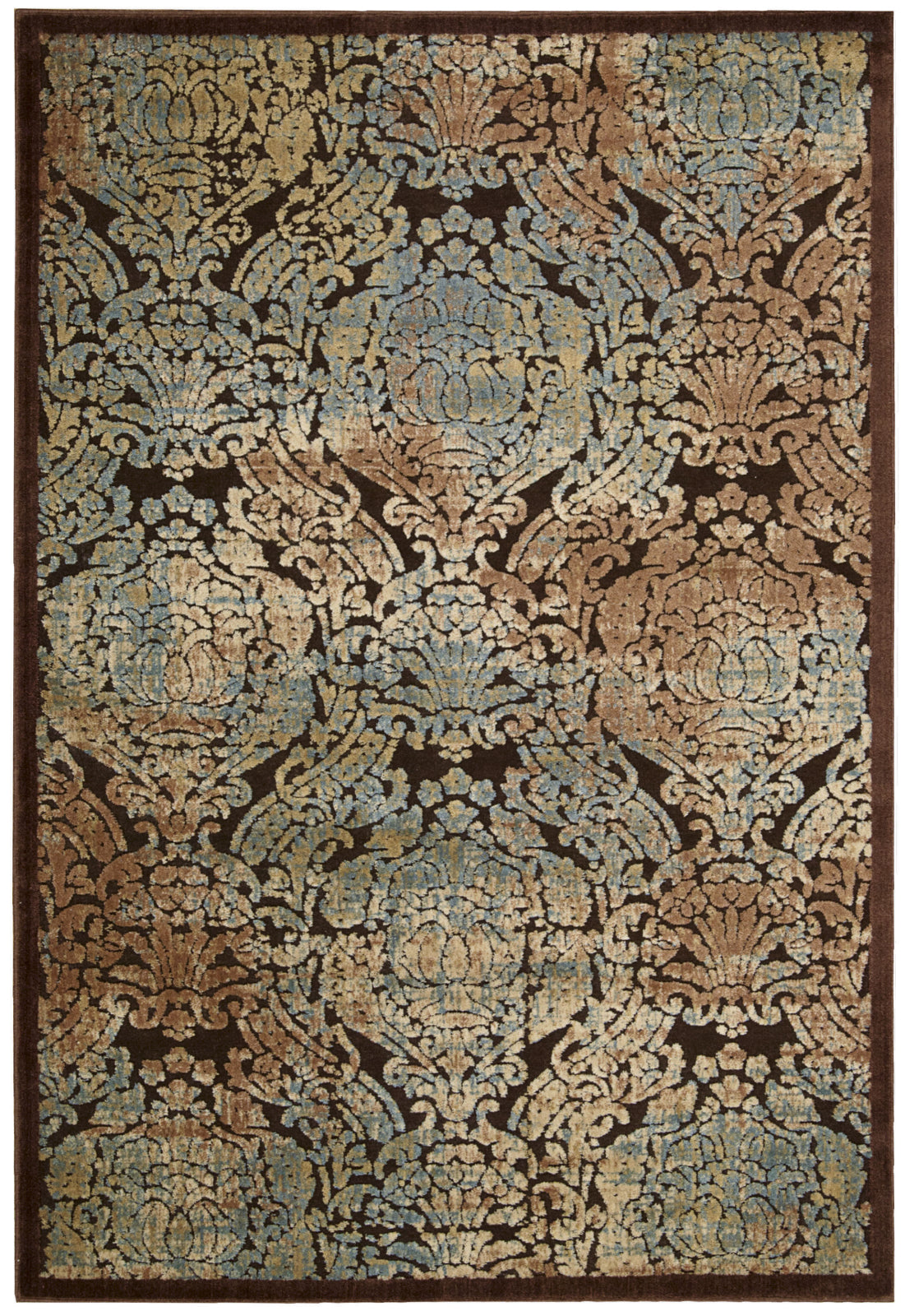 Nourison Graphic Illusions GIL09 Chocolate Area Rug main image