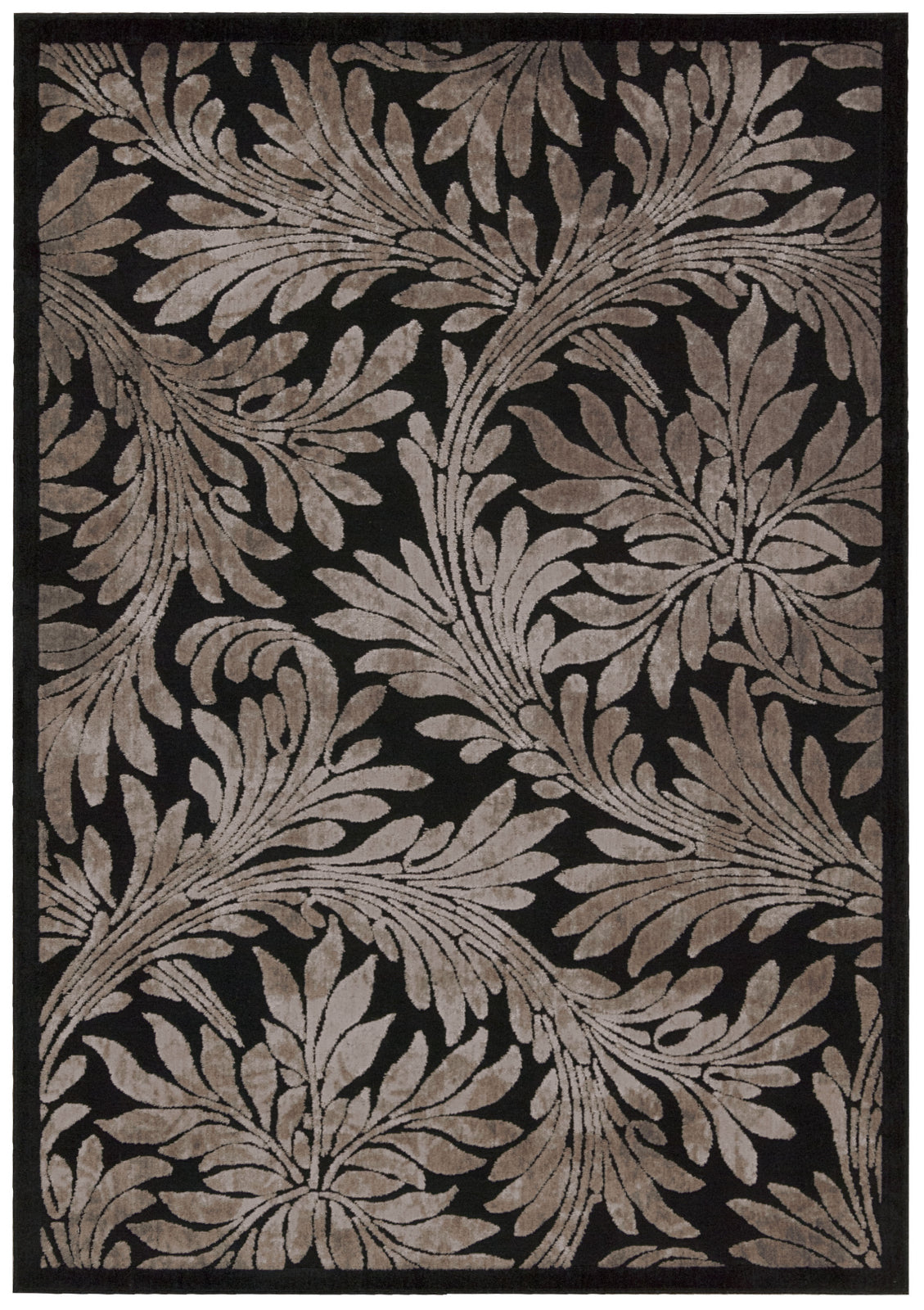 Nourison Graphic Illusions GIL19 Black Area Rug main image