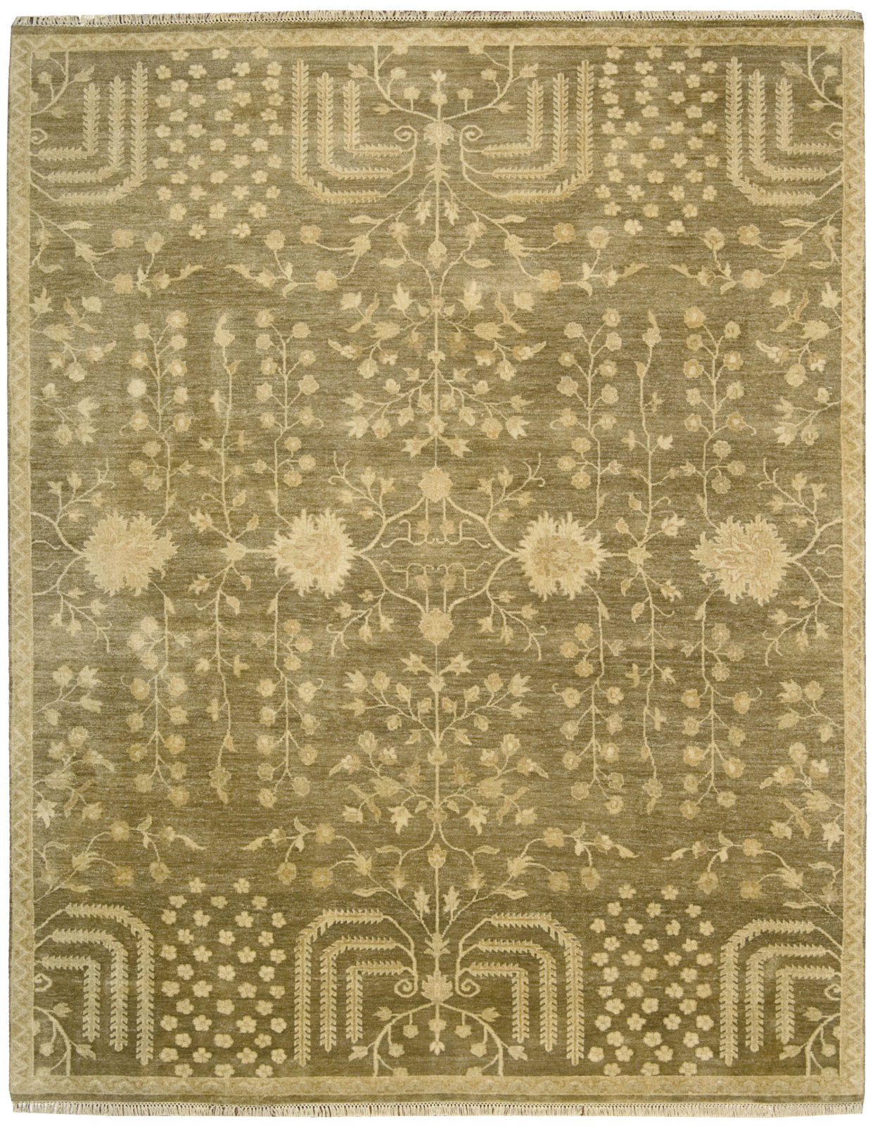 Nourison Grand Estate GRA02 Mushroom Area Rug main image
