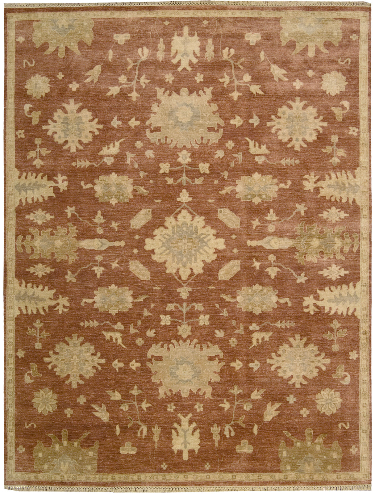 Nourison Grand Estate GRA03 Persimmon Area Rug main image
