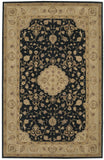 Nourison Heritage Hall HE10 Black Hand Tufted Area Rug