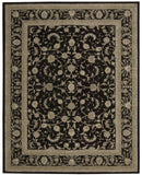 Nourison Heritage Hall HE29 Black Hand Tufted Area Rug