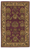 Nourison India House IH01 Burgundy Hand Tufted Area Rug
