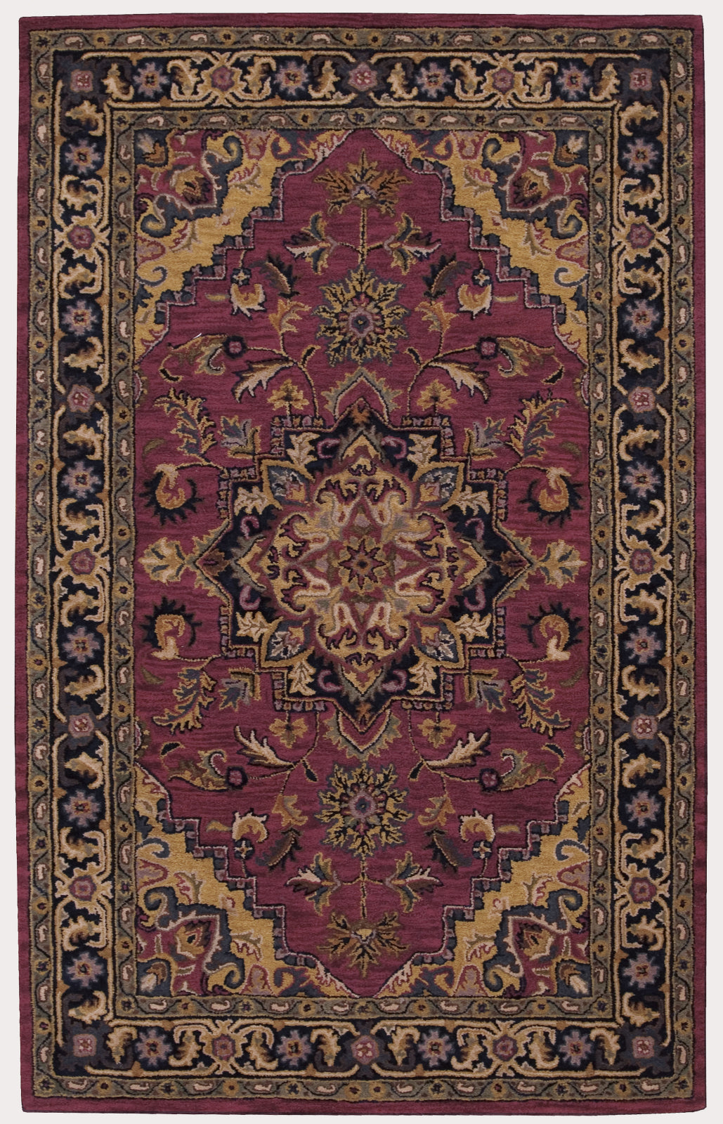 Nourison India House IH02 Rust Area Rug main image