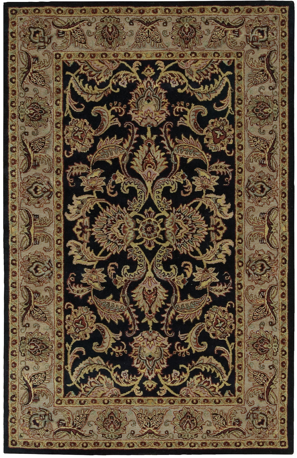 Nourison India House IH48 Black Area Rug main image