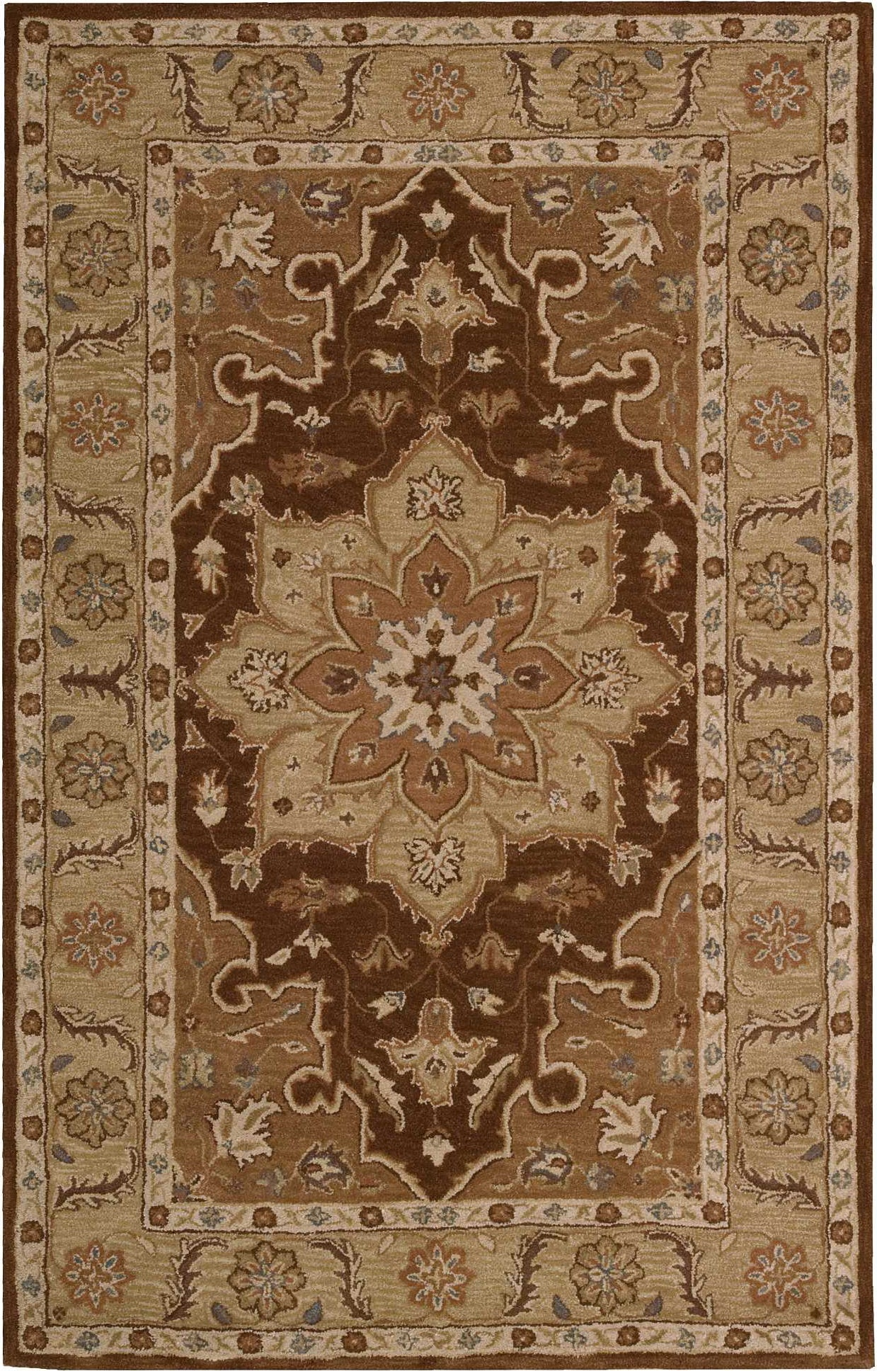 Nourison India House IH66 Chocolate Area Rug main image