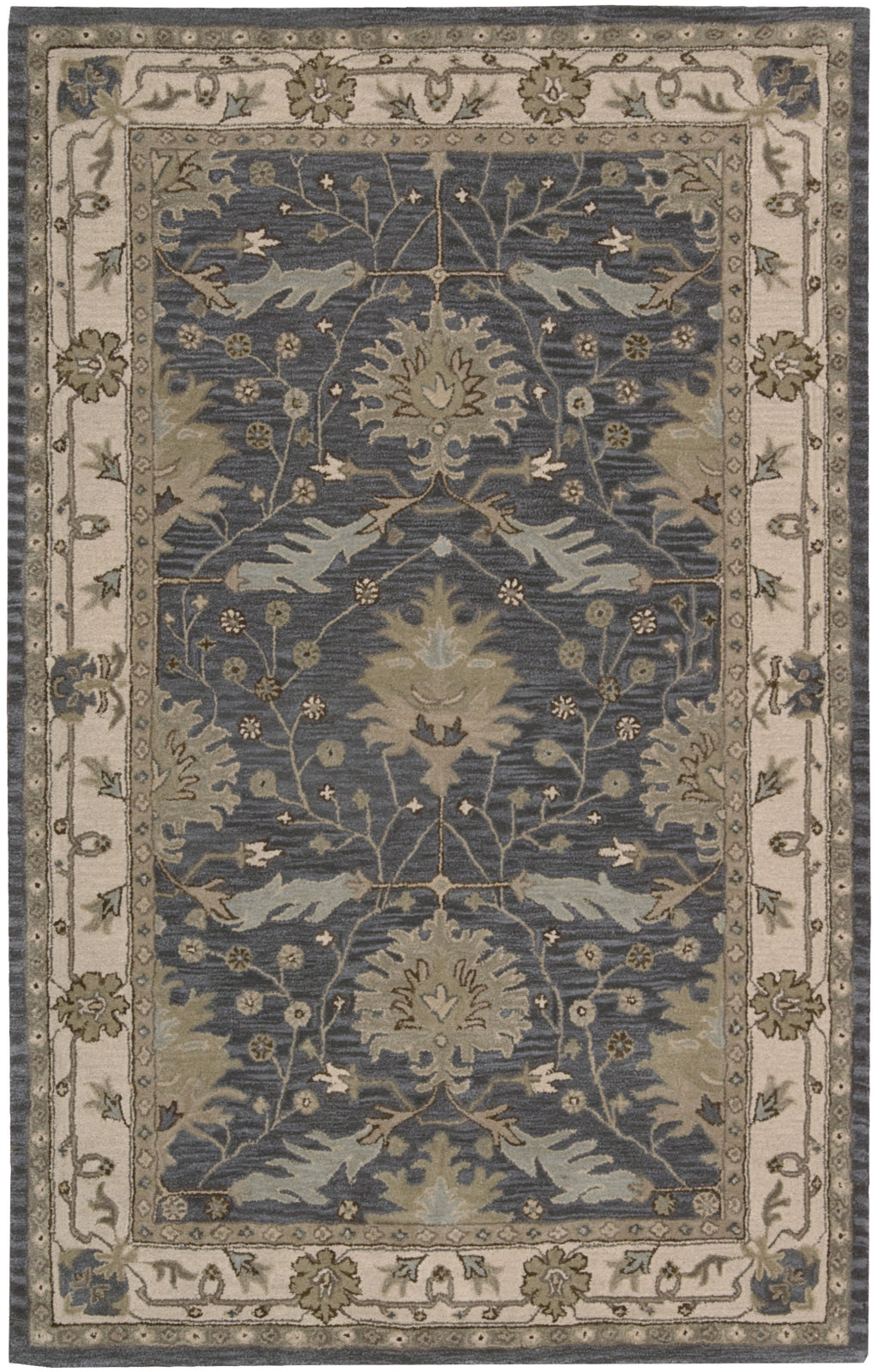 Nourison India House IH75 Blue Area Rug main image