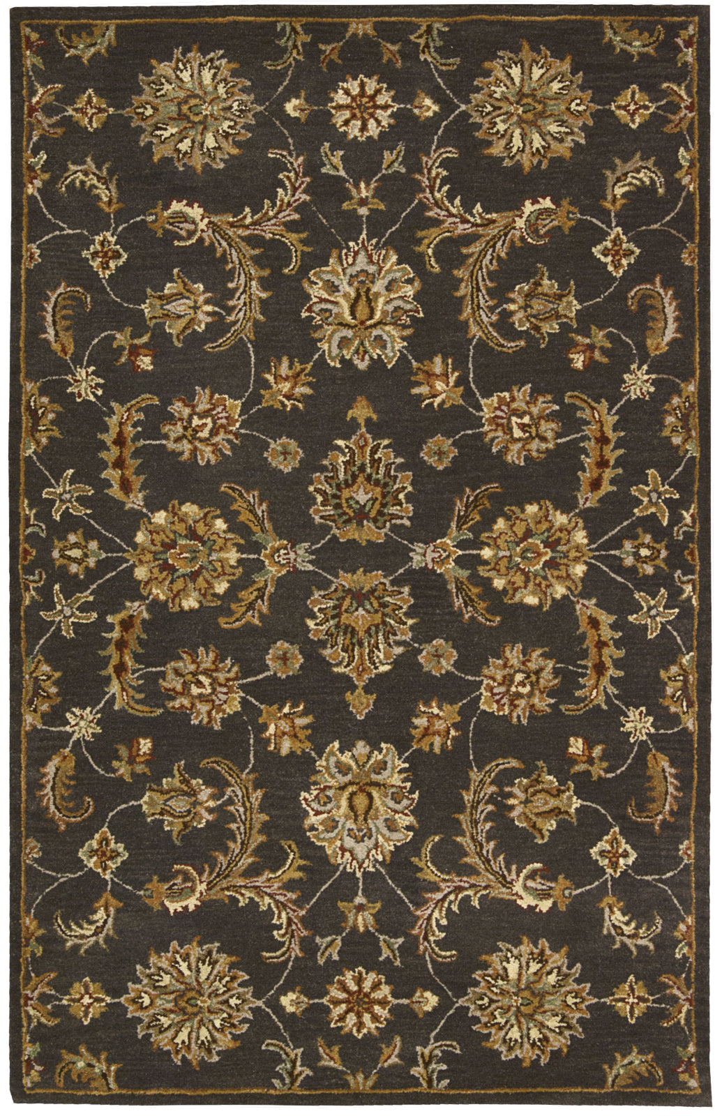 Nourison India House IH83 Charcoal Area Rug main image