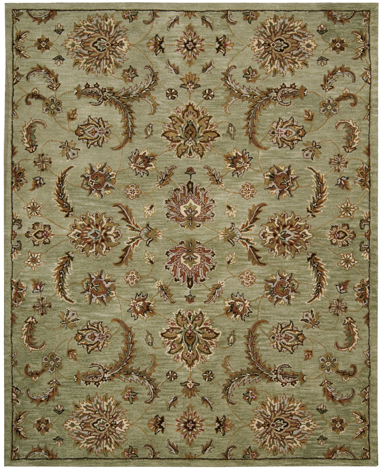 Nourison India House IH83 Light Green Area Rug main image