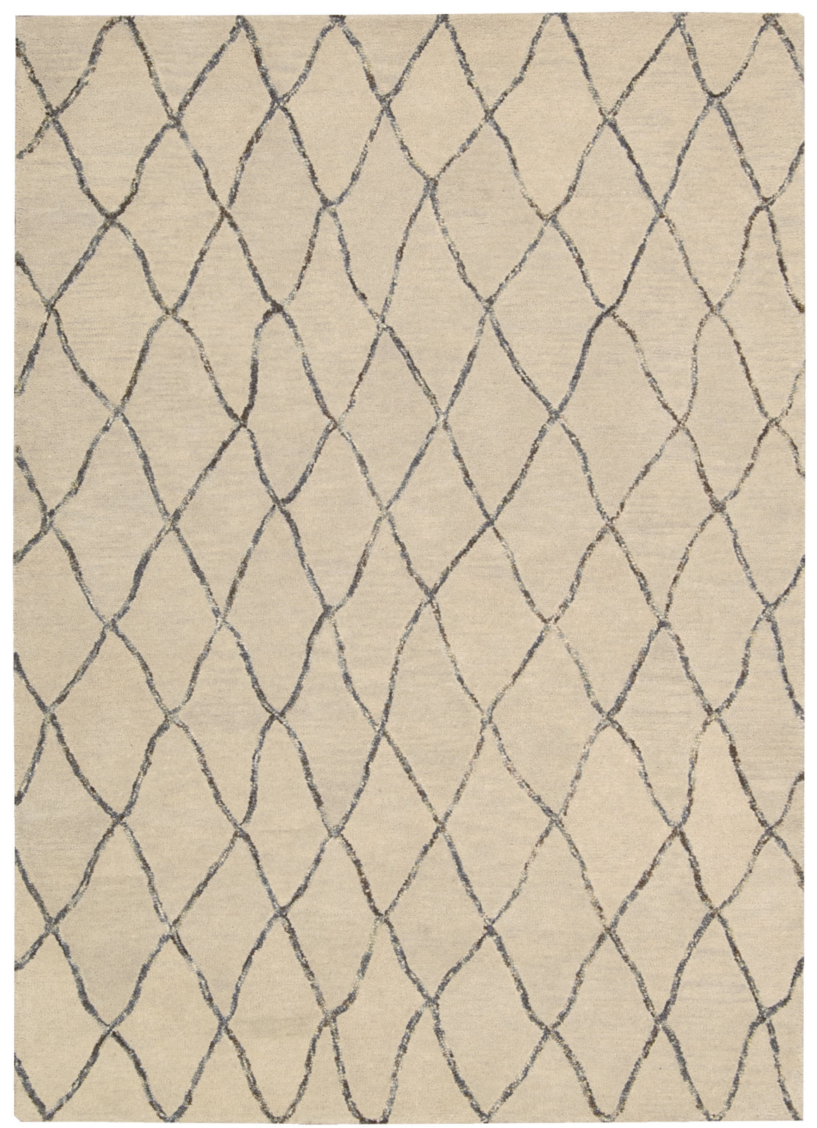 Nourison Intermix INT02 Sand Area Rug by Barclay Butera main image