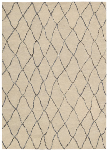 Nourison Intermix INT02 Sand Hand Woven Area Rug by Barclay Butera