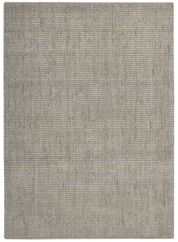 Nourison Intermix INT03 Smoke Hand Woven Area Rug by Barclay Butera