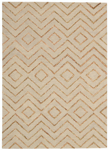 Nourison Intermix INT04 Sand Hand Woven Area Rug by Barclay Butera