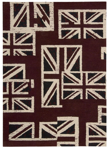 Nourison Intermix INT05 Union Jack Hand Woven Area Rug by Barclay Butera