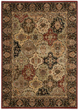 Nourison Lumiere KI601 Persian Tapestry Multicolor Machine Woven Area Rug by Kathy Ireland