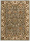 Nourison Lumiere KI602 Stateroom Slate Blue Machine Woven Area Rug by Kathy Ireland