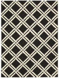 Nourison Linear LIN04 Black White Area Rug