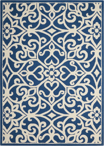 Nourison Linear LIN19 Navy/Ivory Area Rug