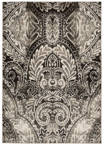 Nourison Glistening Nights MA501 Light Grey Area Rug by Michael Amini main image