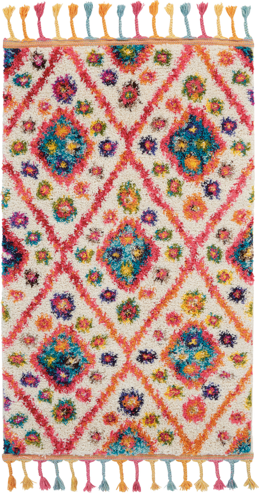 Nourison Moroccan Casbah MCB03 Ivory/Pink Area Rug main image