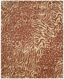 Nourison Tahoe Modern MTA02 Rust Beige Hand Knotted Area Rug