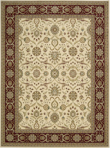 Nourison Persian Crown PC001 Cream Machine Woven Area Rug